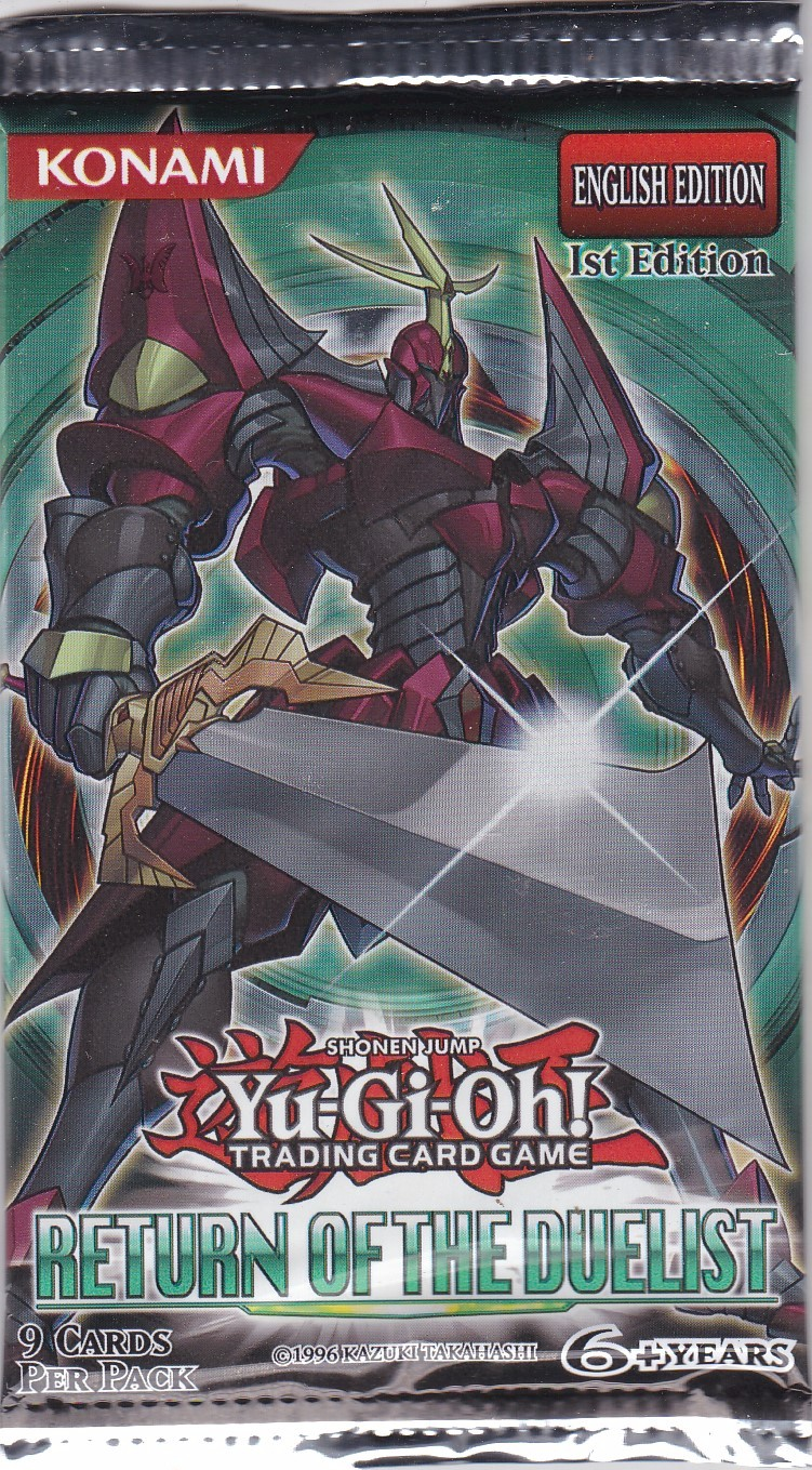 YuGiOh Return of the Duelist Booster Pack