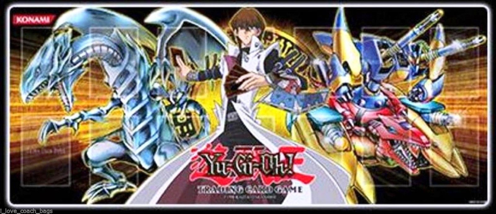 YUGIOH Gold Series 4 Kaiba Blue-Eyes White Dragon Playmat Mouse-Pad